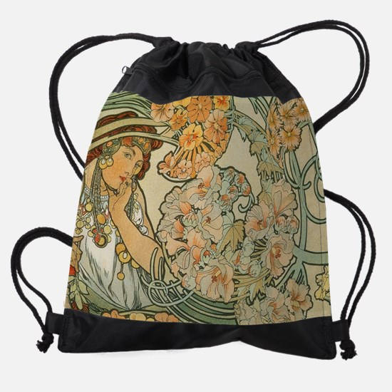 Art Nouveau Drawstring Bag