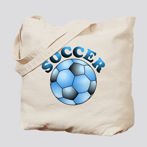 Blue Soccer Tote Bag