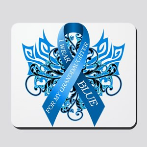 I Wear Blue for my Granddaughter Mousepad