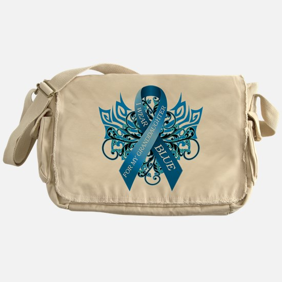 I Wear Blue for my Granddaughter Messenger Bag