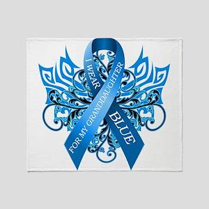 I Wear Blue for my Granddaughter Throw Blanket