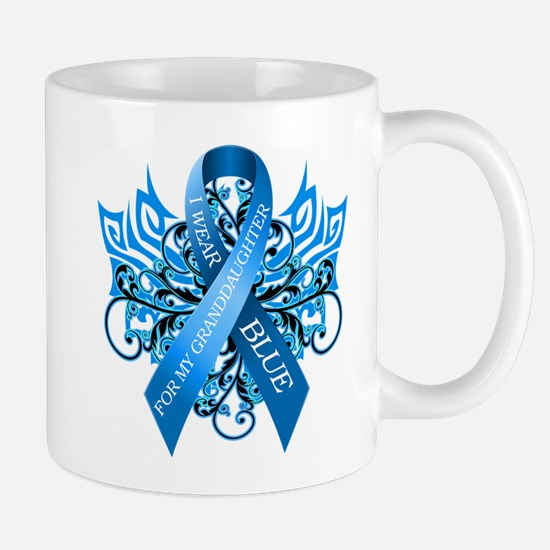 I Wear Blue for my Granddaughter Mug