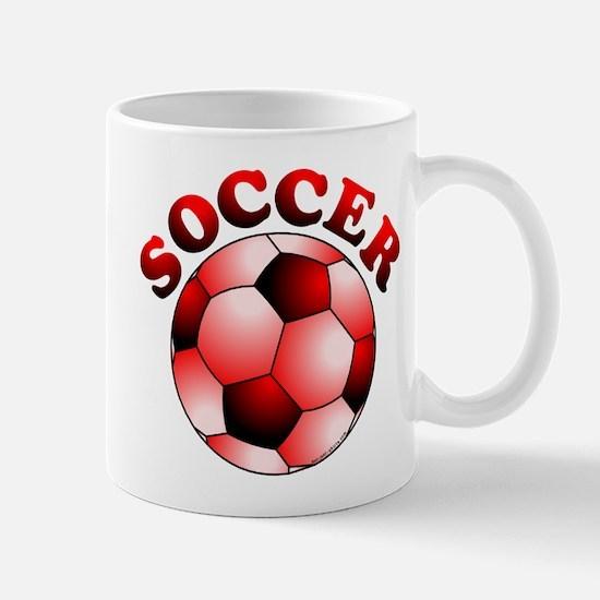 Red Soccer Mug