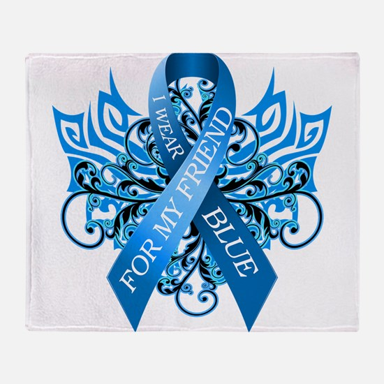 I Wear Blue for my Friend Throw Blanket