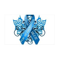 I Wear Blue for my Daughter Wall Decal
