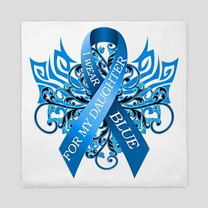 I Wear Blue for my Daughter Queen Duvet