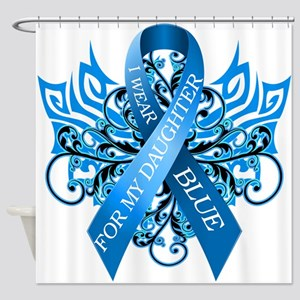 I Wear Blue for my Daughter Shower Curtain
