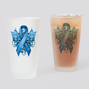 I Wear Blue for my Daughter Drinking Glass
