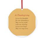 Thanksgiving Poem Ornament (Round)