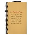 Thanksgiving Poem Journal