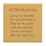 Thanksgiving Poem Tile Coaster