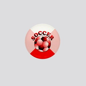 Red Soccer Mini Button