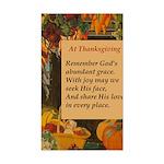 At Thanksgiving Poem Sticker (Rectangle)