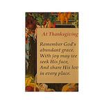 At Thanksgiving Poem Rectangle Magnet (10 pack)