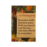 At Thanksgiving Poem Rectangle Magnet (100 pack)