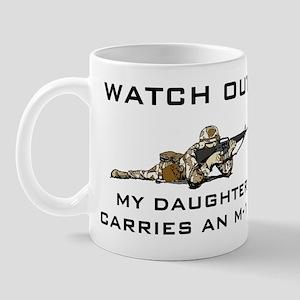 MILITARY DAUGHTER M-16 Mug