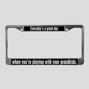 Grandparents License Plate Frame