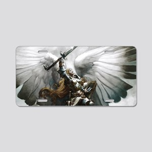 Angel Knight Aluminum License Plate