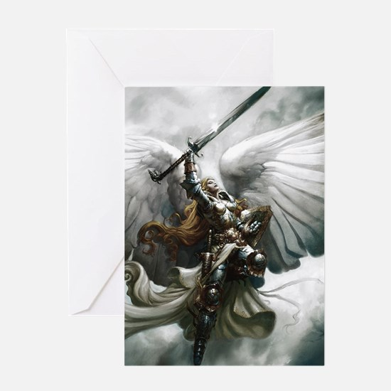Angel Knight Greeting Cards