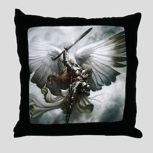 Angel Knight Throw Pillow