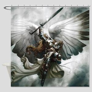 Angel Knight Shower Curtain