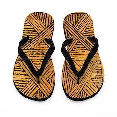 Bamboo Wood Design Flip Flops