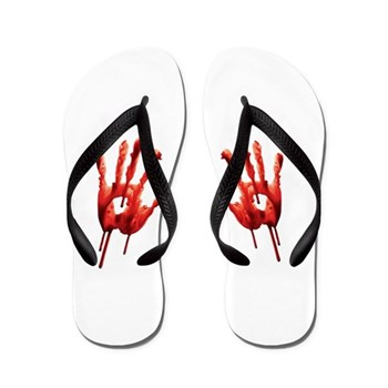 Novelty Blooy Hands Flip Flops