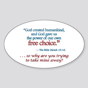 Free Choice - Oval Sticker