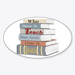 Teach... Learn Graphic Oval Sticker