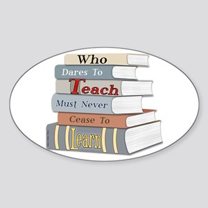 Teach... Learn Graphic Oval Sticker
