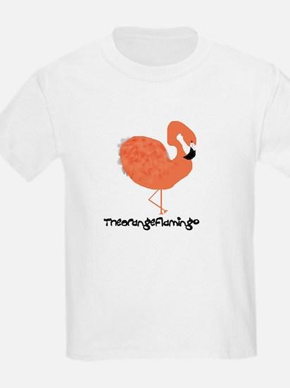 Orange Flamingo Kids T-Shirt