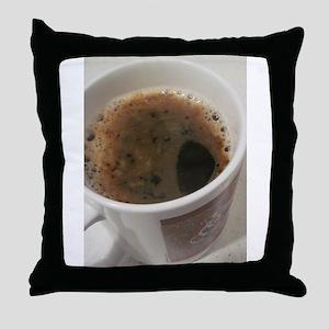 Delicious Caffeine Throw Pillow