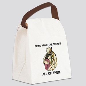 BRING HOME THE TROOPS Canvas Lunch Bag