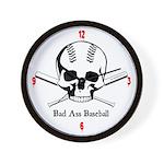 BAD ASS Baseball Wall Clock