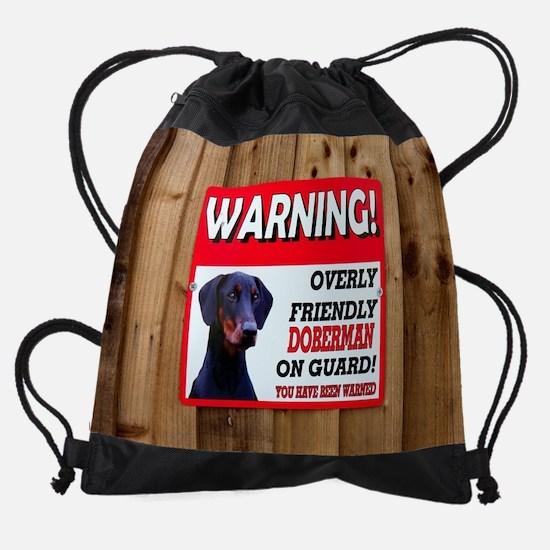 Doberman Drawstring Bag