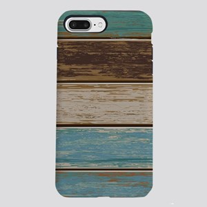 Painted Wood Teal iPhone 7 Plus Tough Case