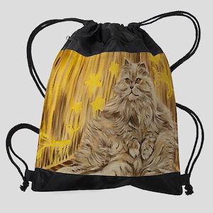 Fila Cat painting Drawstring Bag