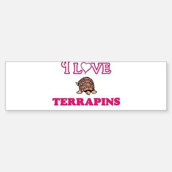 I Love Terrapins Bumper Bumper Bumper Sticker