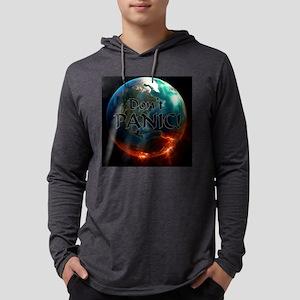 Dont Panic Mens Hooded Shirt