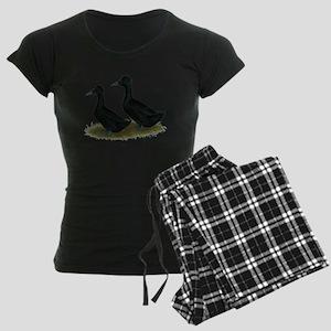 Crested Ducks Black Pajamas