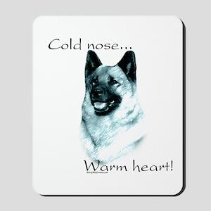 Elkhound Warm Heart Mousepad