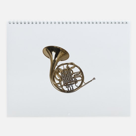 French Horn Wall Calendar