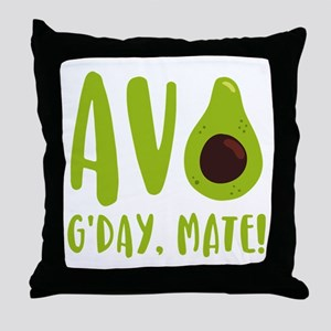 Avocado G'Day Mate Throw Pillow