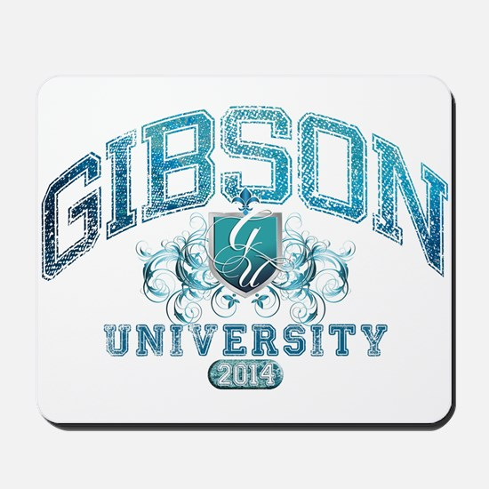 Gibson Last Name University Class of 2014 Mousepad