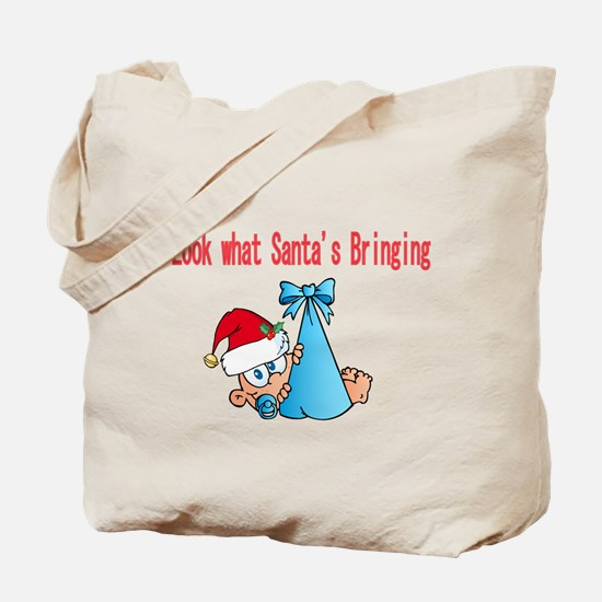 Look what Santas bringing us Tote Bag