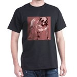 Red Tone Bulldog Dark T-Shirt