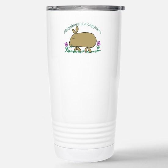 RoundCapybara_Happiness Mugs