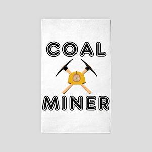 Coal Miners 3'x5' Area Rug