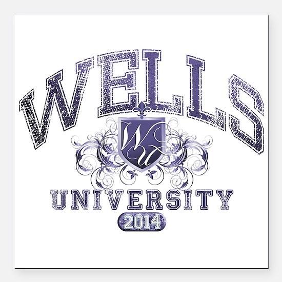 Wells Last Name University Class of 2014 Square Ca