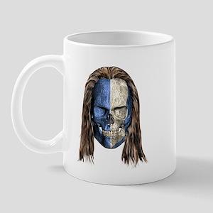 Braveheart Skull With Hair Mug